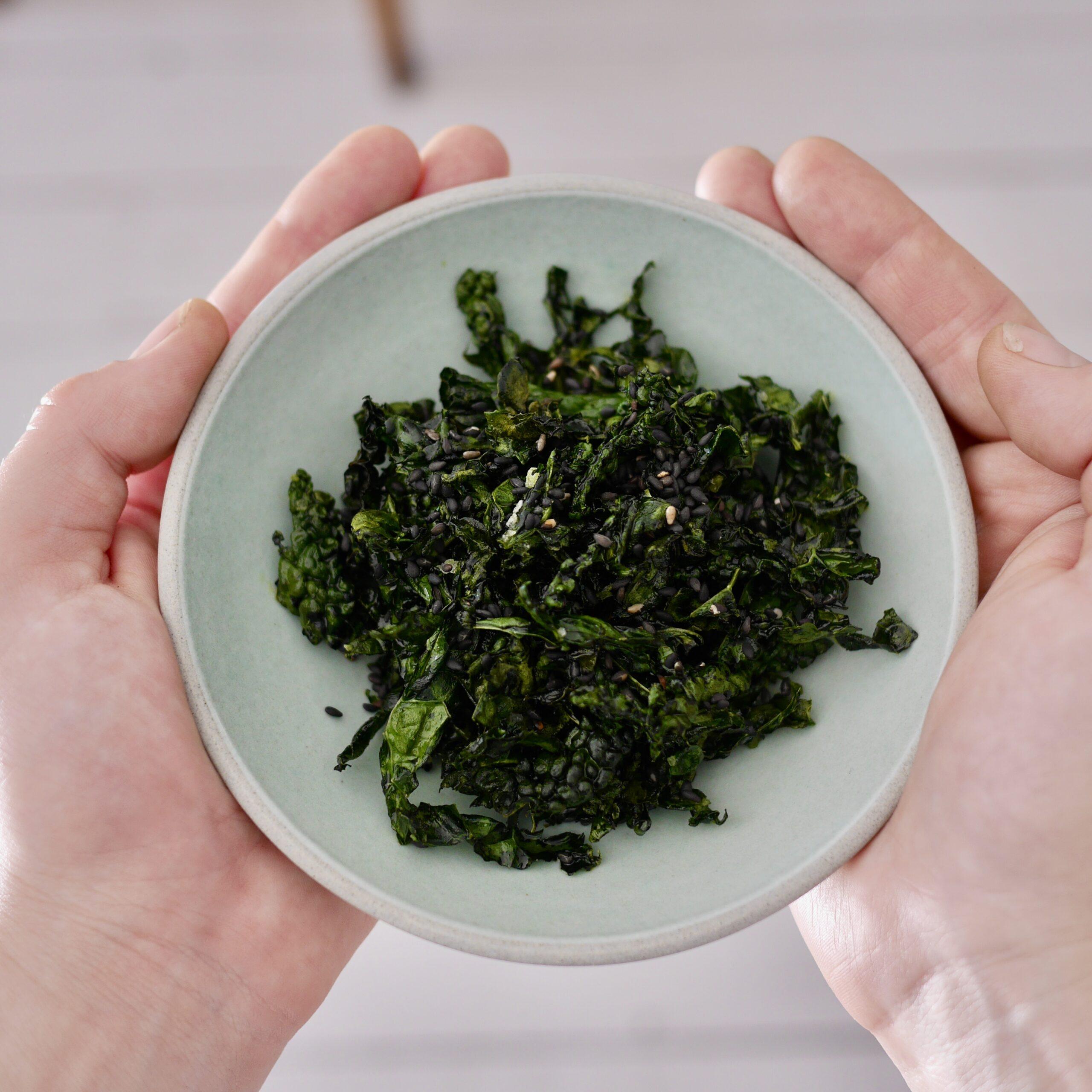 Cavolo nero crispy seaweed